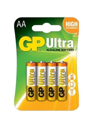 GP Ultra Alkalin Pil AA Kalem 4'lü Blister Renkli